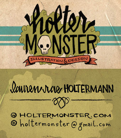 I finally got new business cards! All handdrawn type.