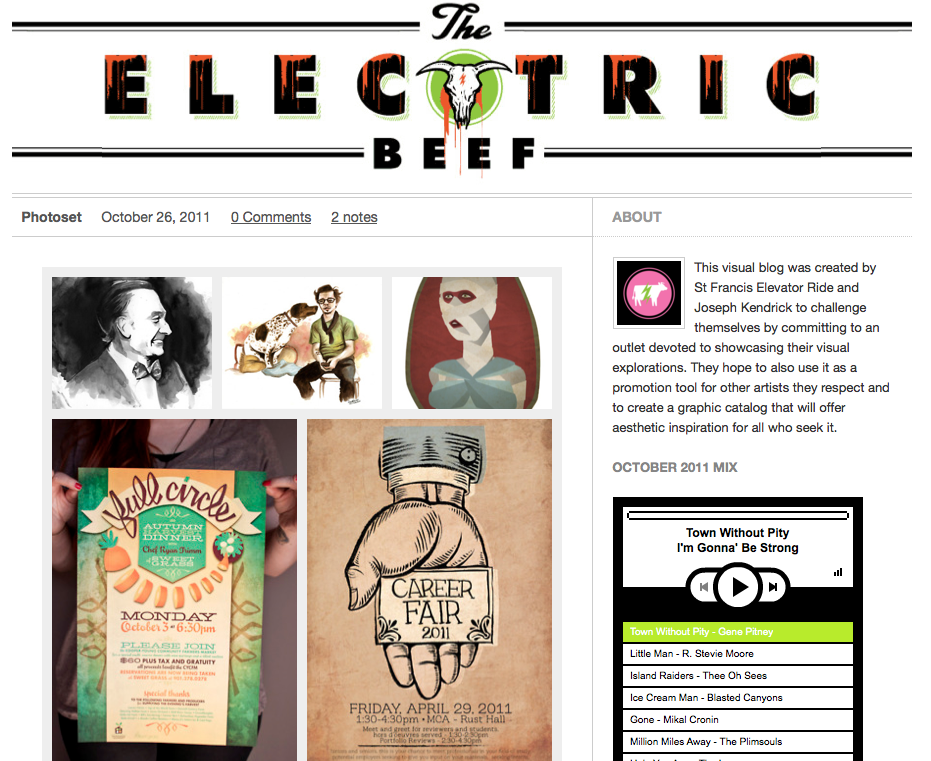 I'm this week's featured artist on The Electric Beef! Check it & follow.
