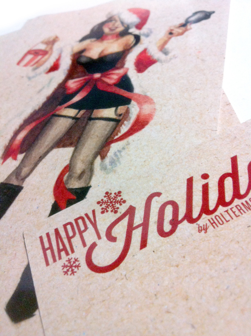 I've got some sexy Santa pinup postcards up on my Etsy shop! $1ea, 10 for $9, or 20 for $15.