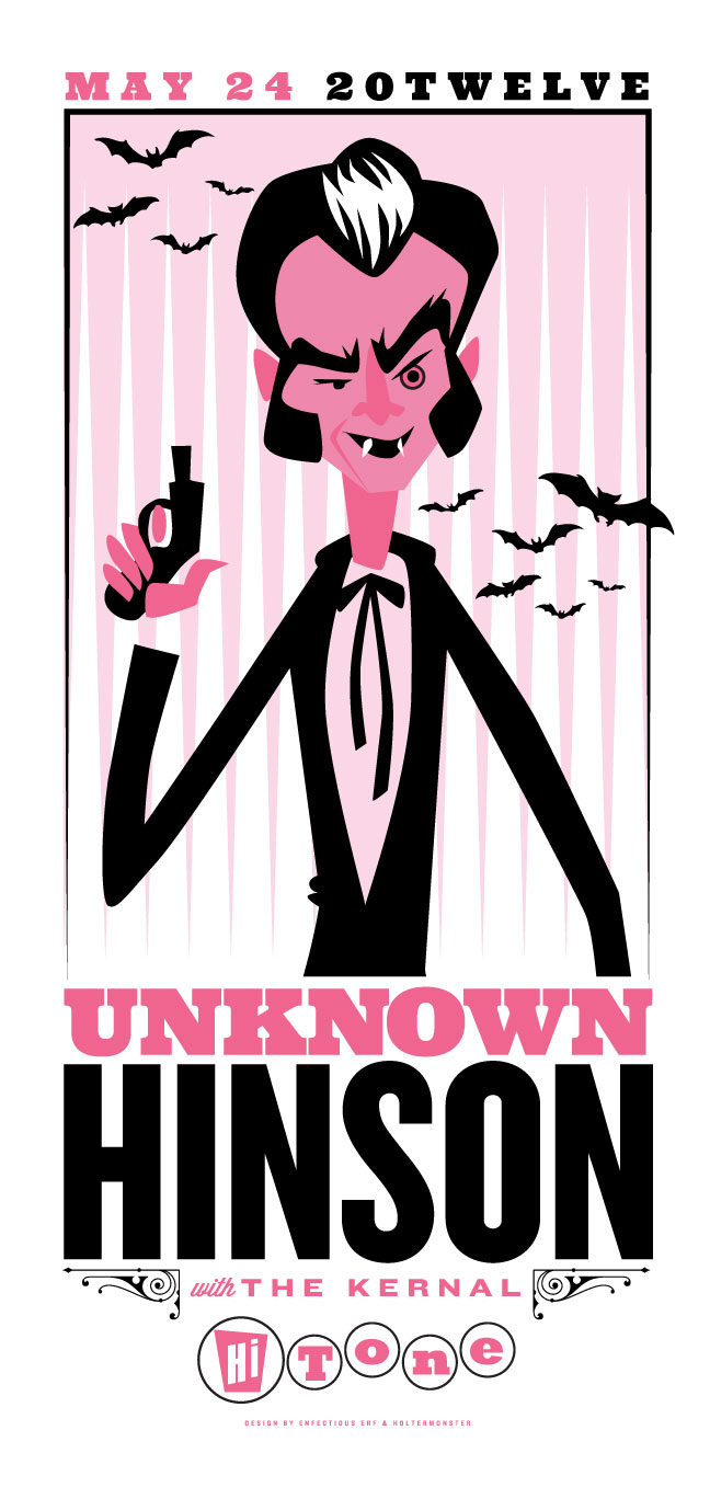 I did this quick illustration of Unkown Hinson for a poster collab with Enfectious Erf last week. Quite pleased.