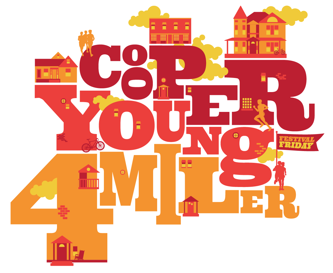 Logo for this year's Cooper Young Festival Friday 4 Miler! This one was fun.