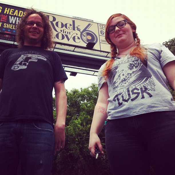 1/2 of ERF in front of our first billboard! We're doing all the art direction this year for Rock for Love 6.