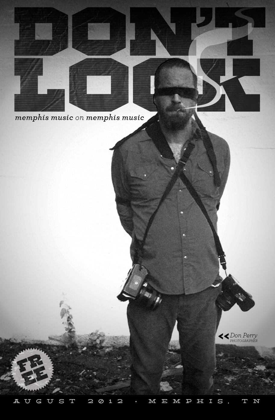 New issue of DON'T LOOK out now » all type, design & layout by ERF / cover story on Bullyrook