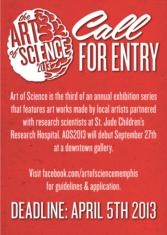 I'm doing the design & promo for the Art of Science again this year, and the call is out! This is the third year and it should be better and bigger than ever.