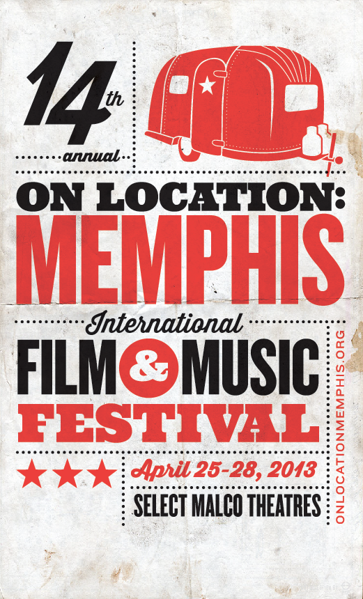 ERF is doing all of the art direction for this year's On Location: Memphis Film & Music Festival! This is the promotional poster.