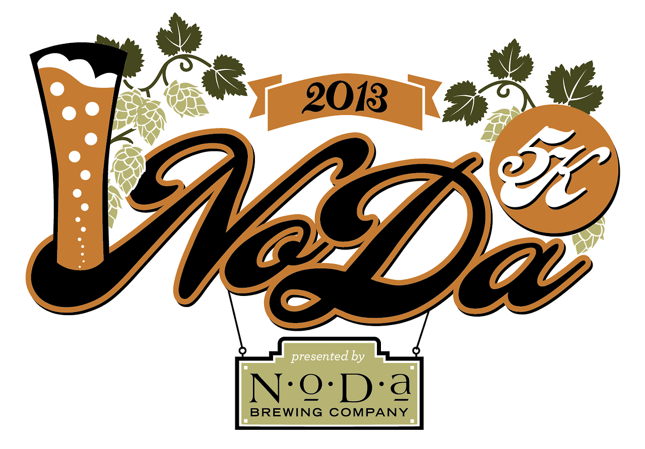 Logo for the NoDa Brewery 5K in Charlotte, NC. I usually don't post stuff from my day job but I like this one!