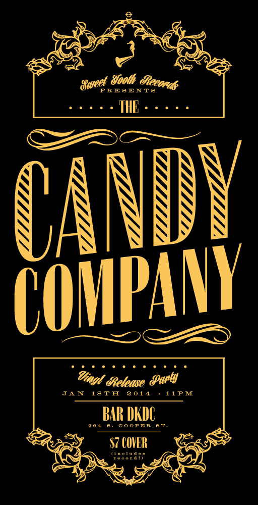 Poster for the Candy Company's vinyl release on January 18th!