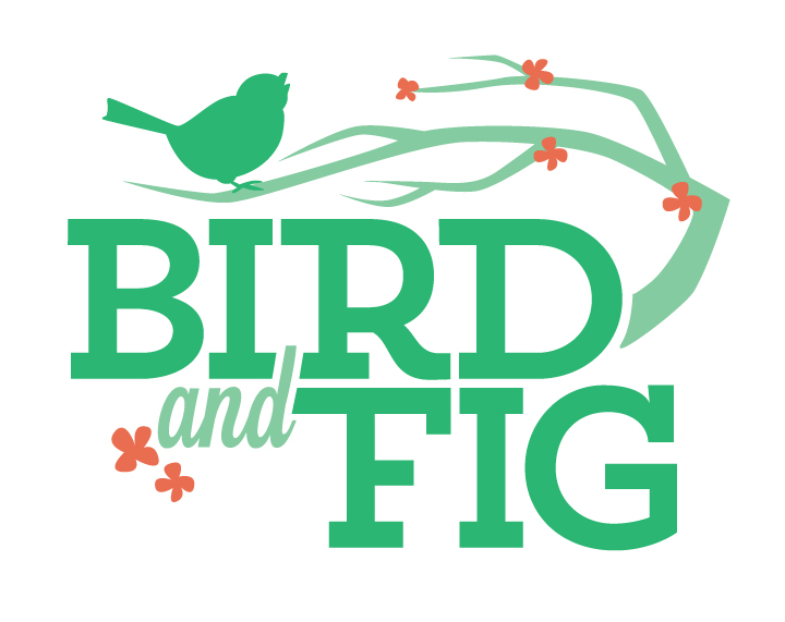 Quick logo for a new blog, Bird and Fig!