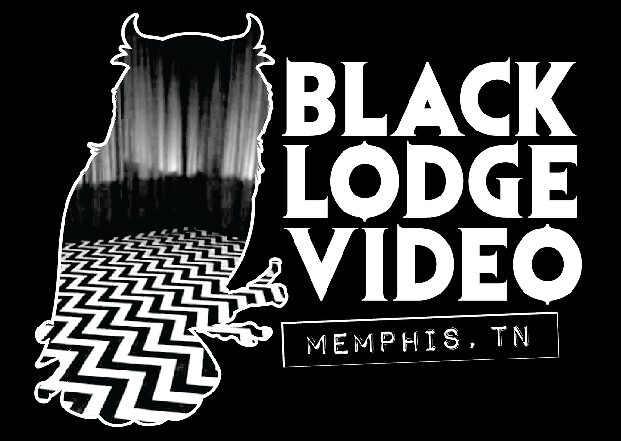 T-shirt design for Black Lodge Video, the last video rental store in Memphis and my personal favorite place to be.