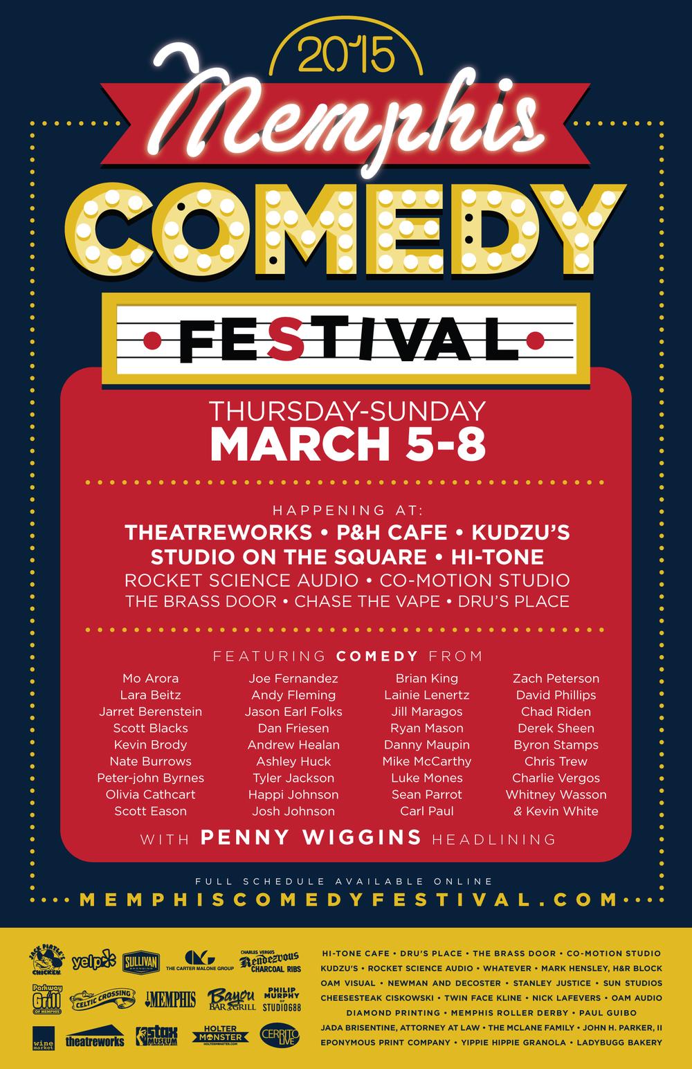 official2015 Memphis Comedy Festival poster