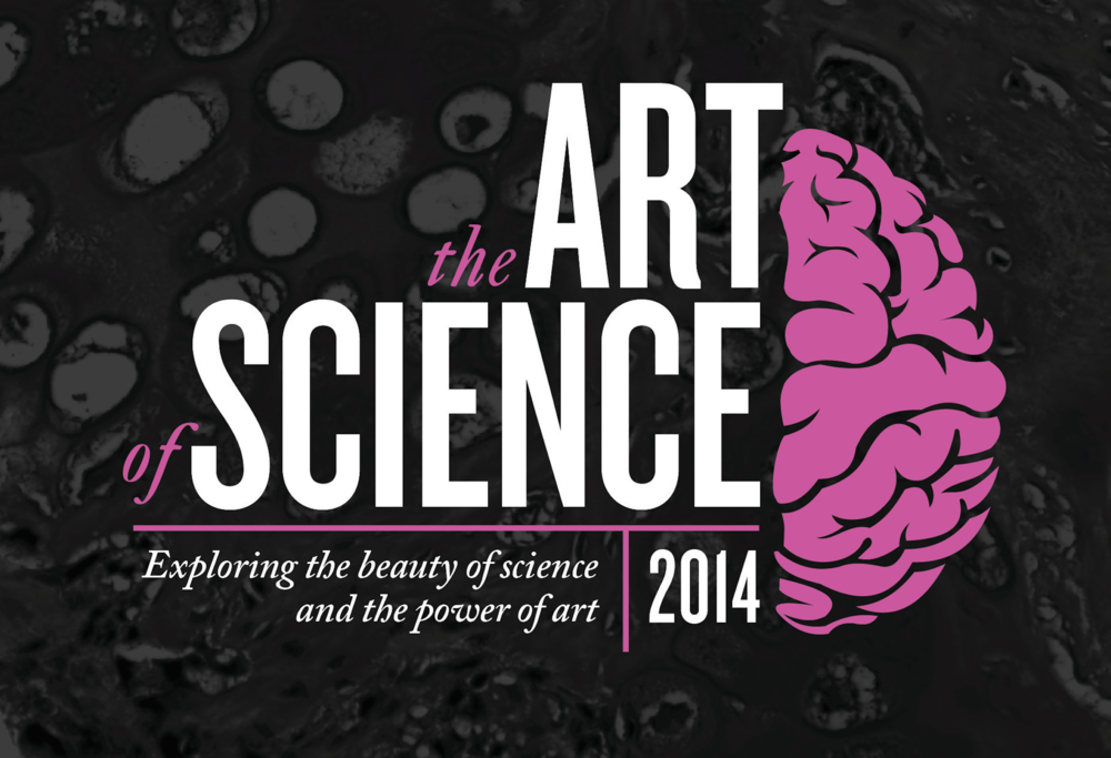 "part of the 2014 update to the Art of Science branding was the addition of a tagline: ""Exploring the beauty of science and the power of art."""