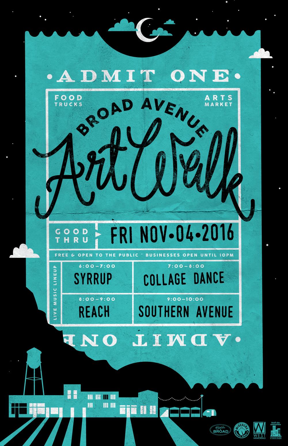 Broad Avenue Art Walk — Fall 2016