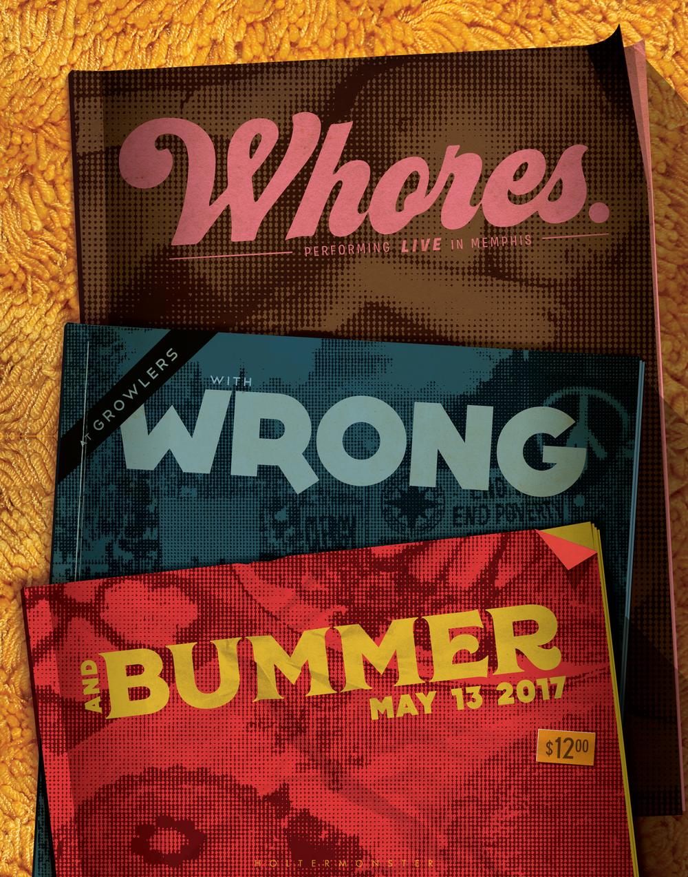 WHORES, WRONG & BUMMER