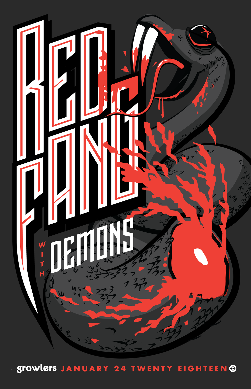 Red Fang with Demons at Growlers, Jan 2018