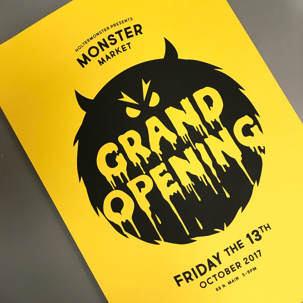 Screenprinted Grand Opening posters