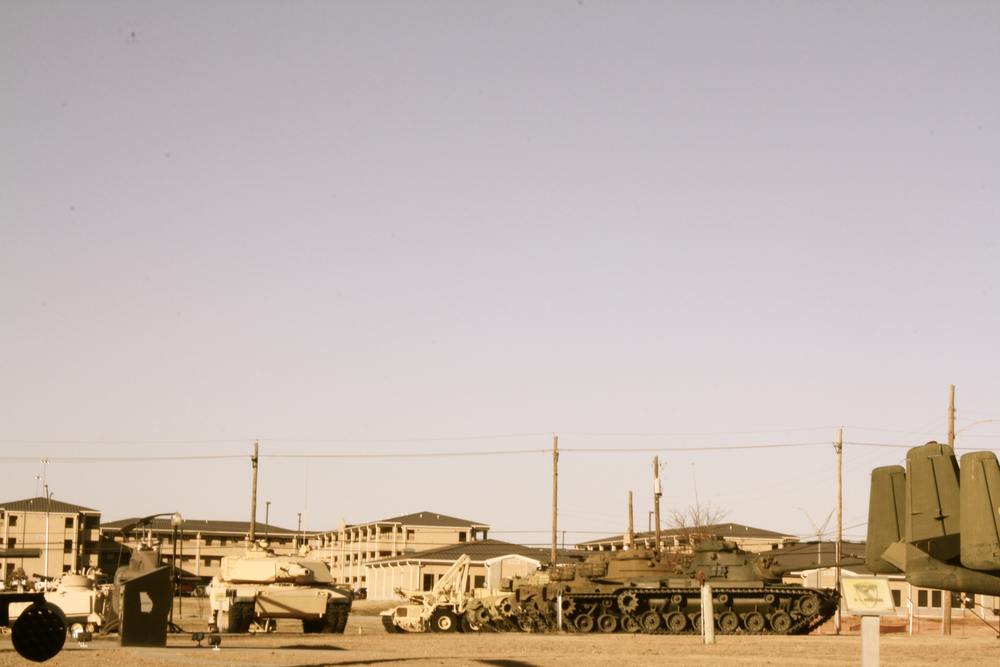Barracks and Tanks, Fort Hood Military Base