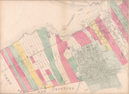 Sunset Park Neighborhood, Map of the City of Brooklyn from 1868 (shows the boundaries of Sunset Park as 17th Street to 64th Street)