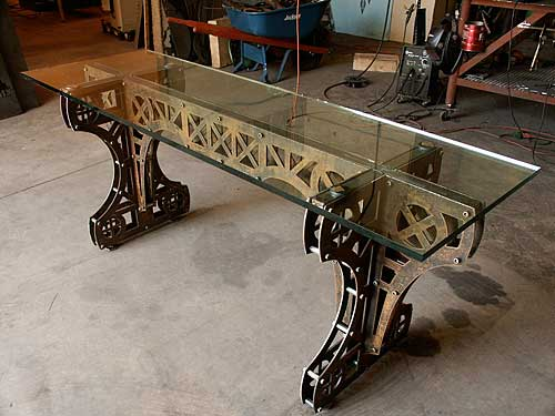 Steel Truss And Beam Tables Kibwe Daisy Design