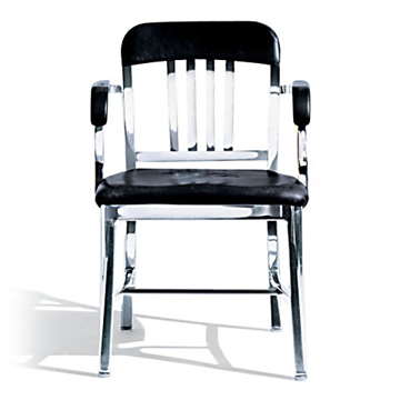 Polished Aluminum Chair