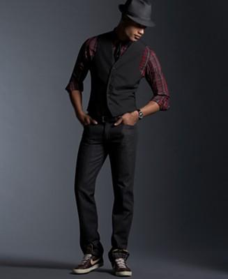 Men all black dress up