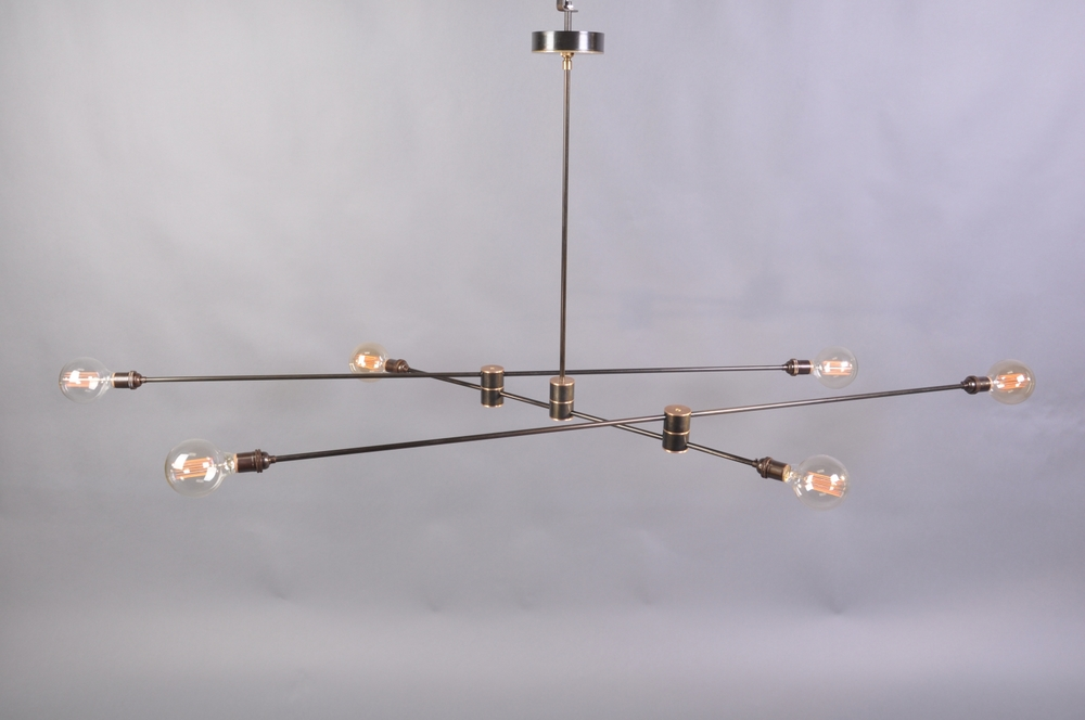 Kibwe daisy design restaurant design designed for a sandwich shop in dublin ca this mobile chandelier developed from an idea in a sketch to a custom statement piece for the space aloadofball