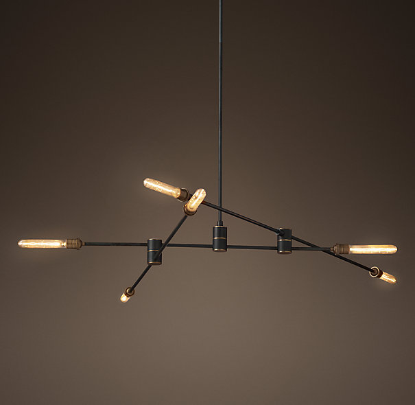 Kibwe daisy design restaurant design the custom mobile chandelier we designed for lees sandwiches dublin is now available for sale at restoration hardware the 3 arm light fixture is part of aloadofball Image collections