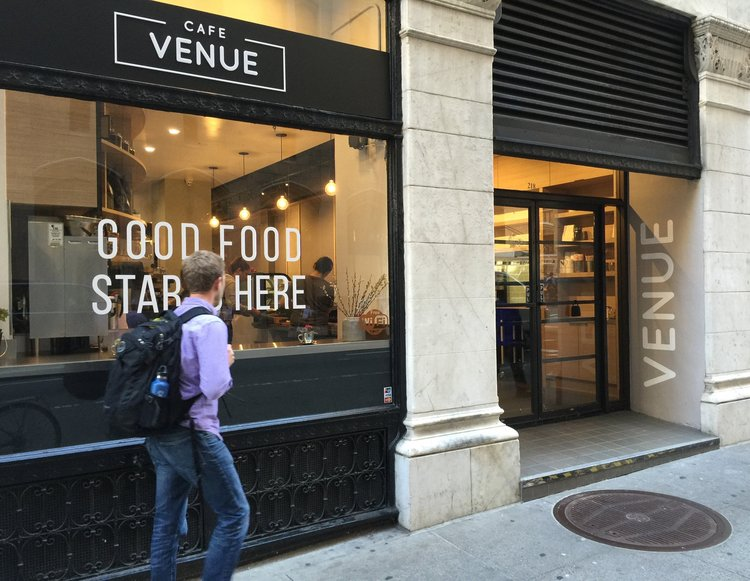 Downtown SF Cafe Gets Branding Makeover - project case study:CAFE VENUE at Montgomery St