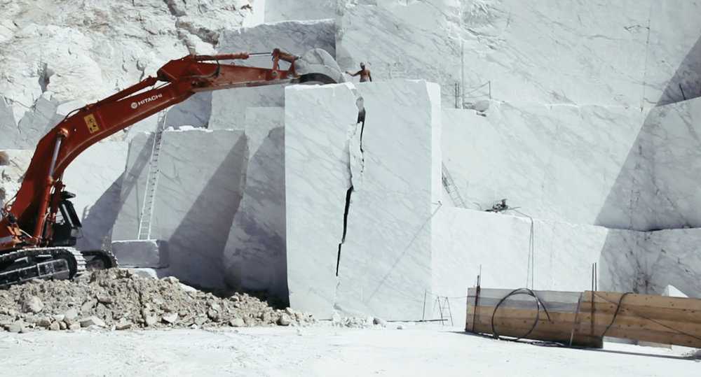 "Still from Yuri Ancarini's documentary on the marble quarries of Carrara, ""Il Capo"" (""The Chief""), 2010."
