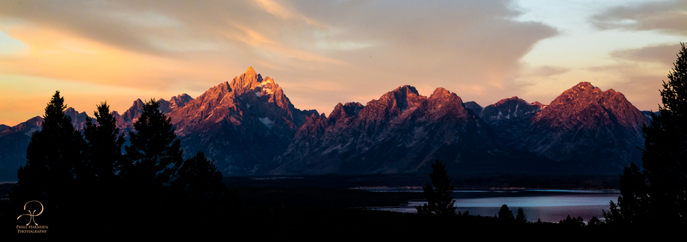 Taken just after daybreak. The Tetons love to look like this in the morning. (Like this shot - Buy it HERE)