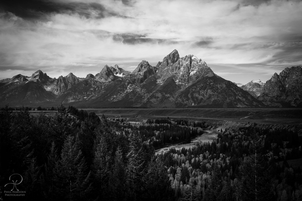 My recreation of Ansel Adams Famous Tetons Shot (Click to Enlarge)  (Like this shot - Buy it   HERE  )
