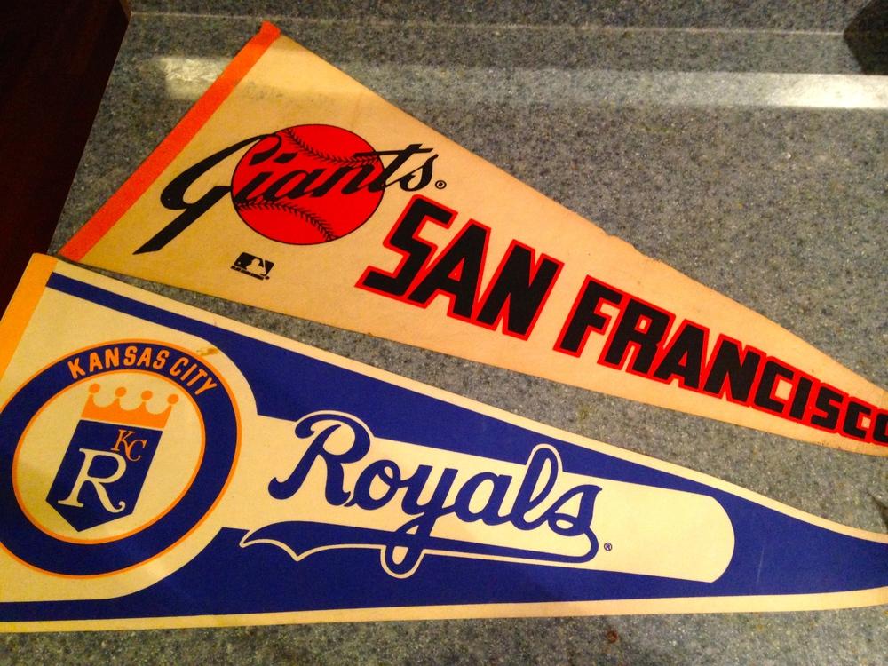 2014 NLCS Champion San Francisco Giants (Pennant c. 1977-1982) v. 2014 ALCS Champion Kansas City Royal (Pennant c. 1982)