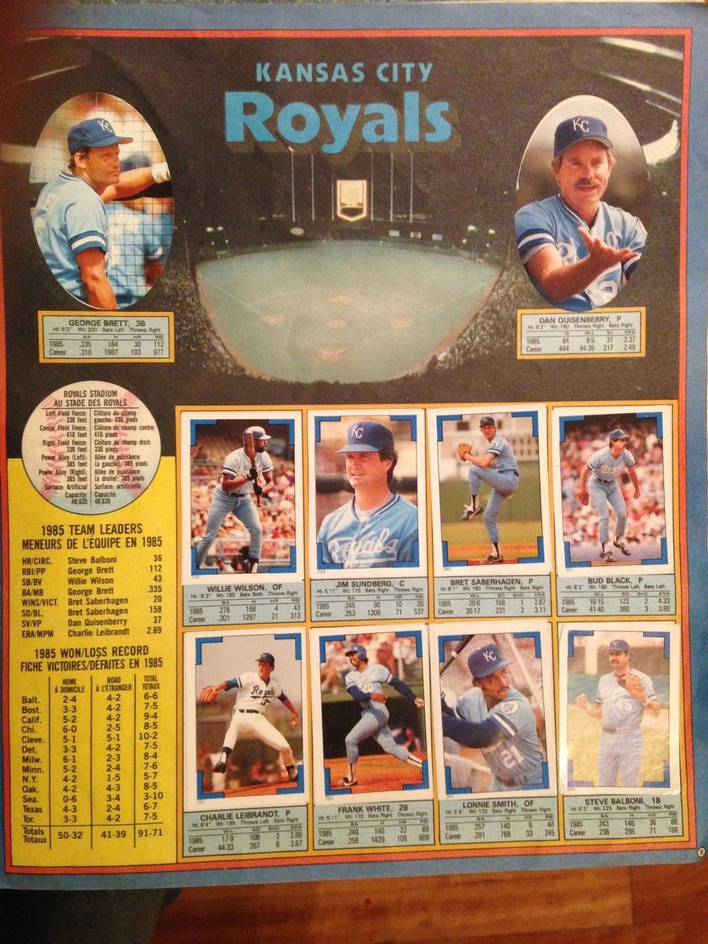 The 1985 Kansas City Royals (highlight: Dan Quisenberry not playing baseball)