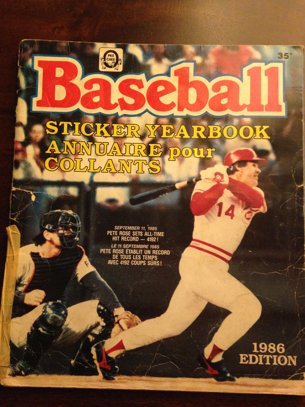 My 1986 Baseball Sticker Yearbook, recapping the 1985 Baseball Season (front cover)