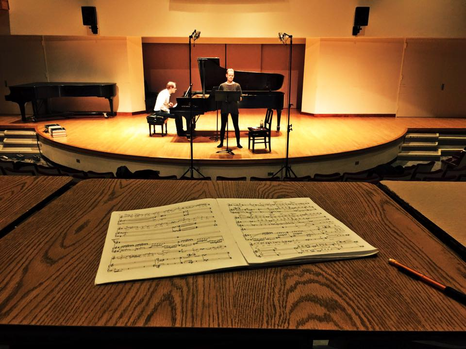 Carla Huhtanen (soprano) and Steven Philcox (piano) in Walter Hall. [Photo: Brian Harman]