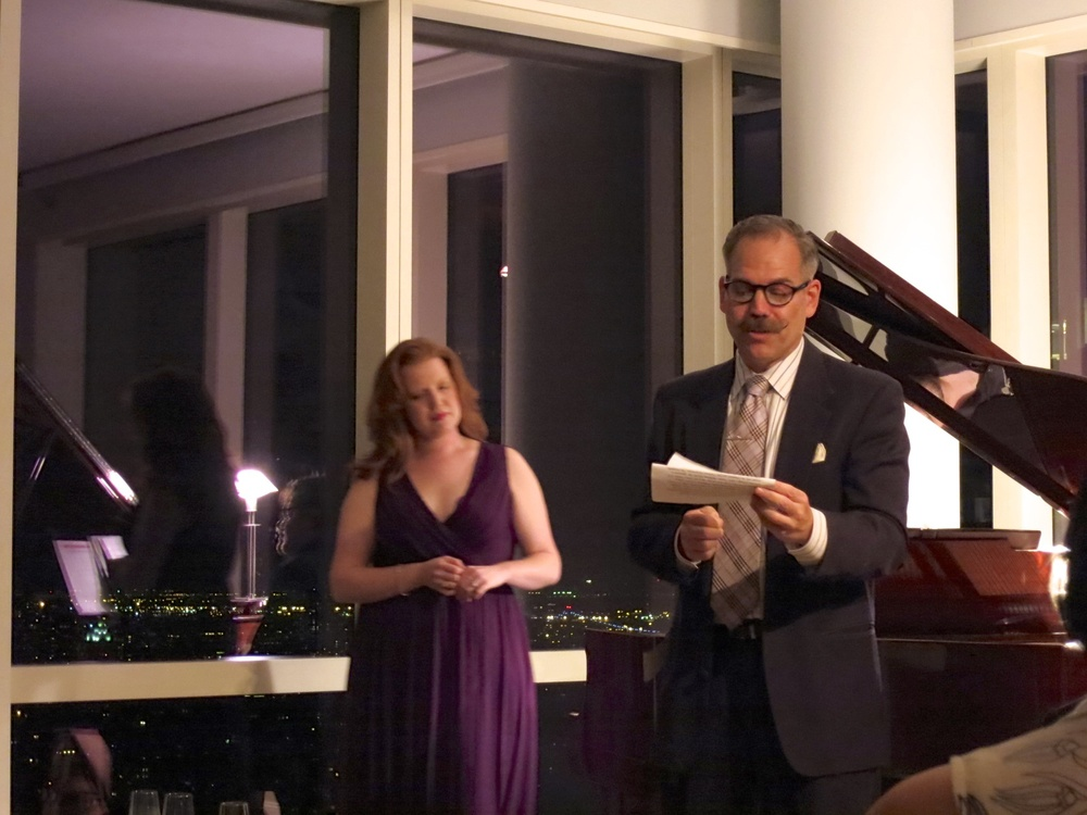 Committee Member Tom Cannon Jr. MC'ing with Jennifer Johnson Cano