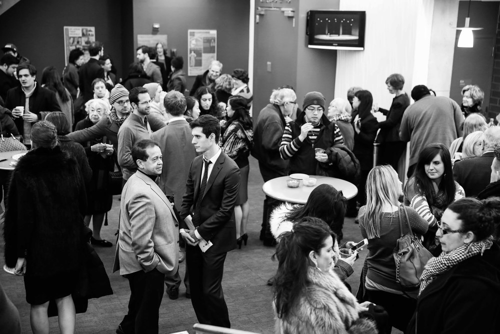 Reception while the judges deliberate