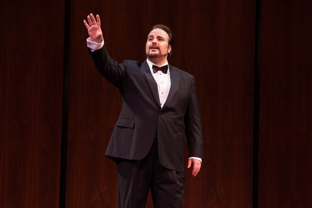 Matthew Anchel on stage at the Met - Picture courtesy of Rebecca Fay