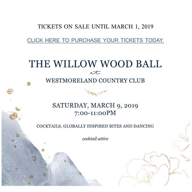 Another dreary day?  Just imagine how much fun we'll be having at the wonderful Willow Wood Ball!  Tickets are available online now: https://willowwoodpreschool.ejoinme.org/tickets #willowwoodps