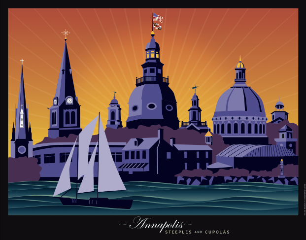 Steeples & Cupolas: Sunset