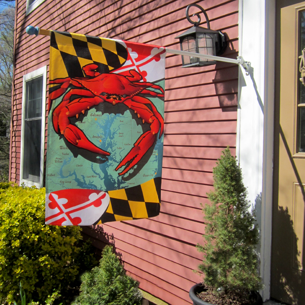 Large House Flag (MD Red Crab flag shown)