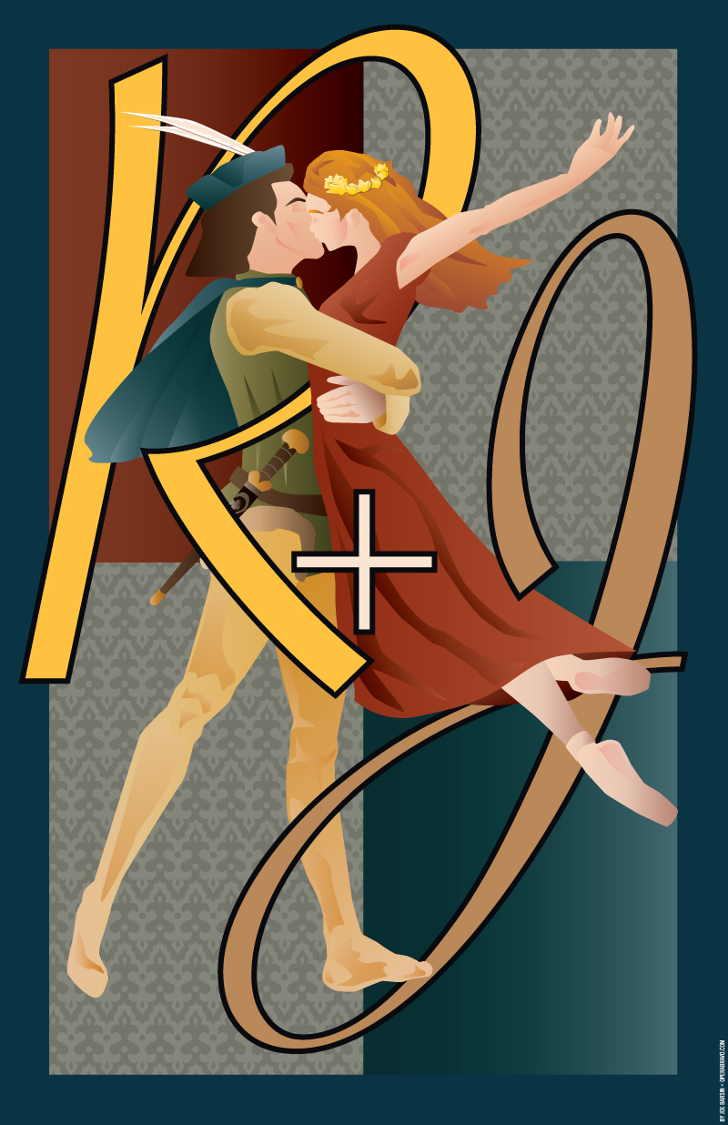 Romeo + Juliet Ballet poster by Joe Barsin of CitizenPride.com