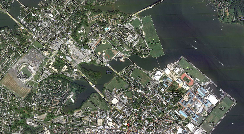 A Blue Angel's eye-view of Annapolis, Maryland!