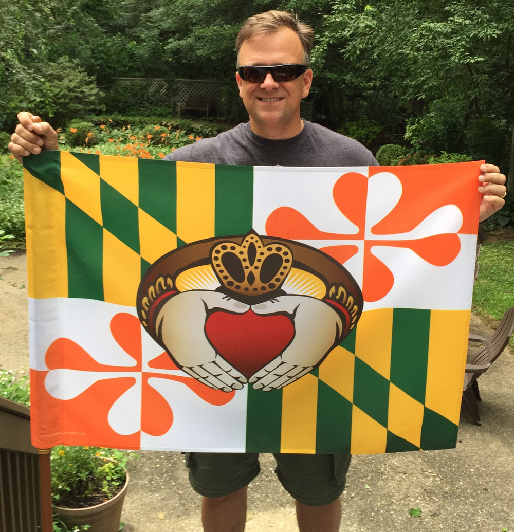 Display your Citizen Pride of the Irish AND of Maryland. (Artist, Joe Barsin, not included.)