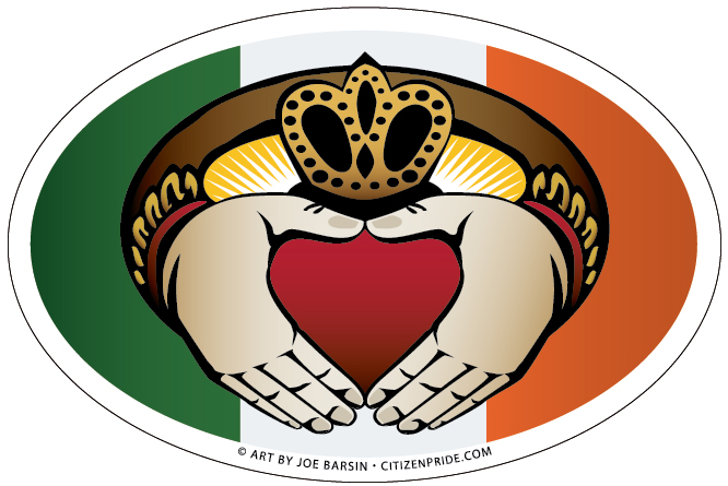 Oval Magnet of the irish Claddagh Ring