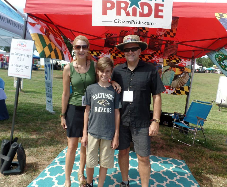 Eva, Robby & Joe Barsin ready for the Kegs & Corks Festival, 2015!