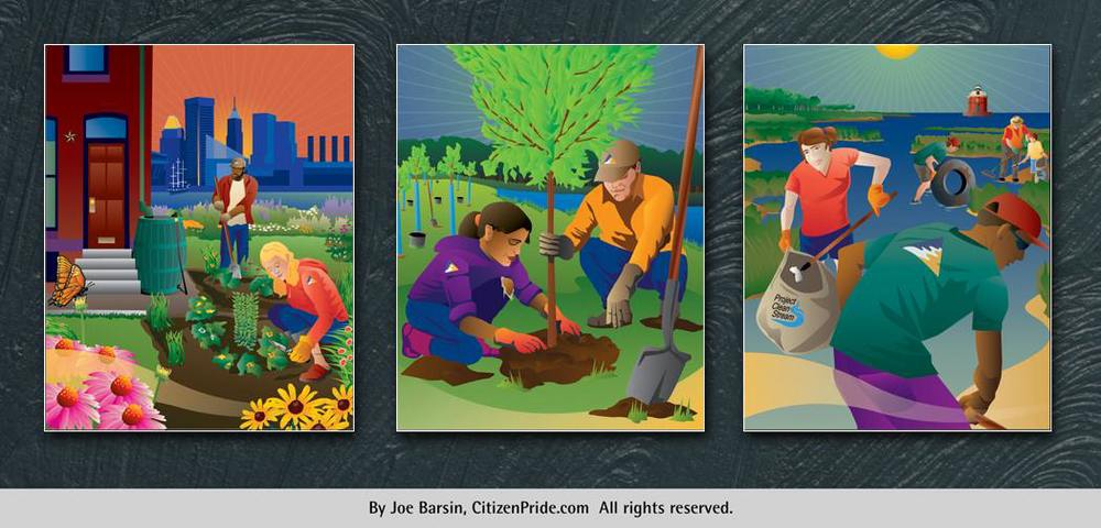Illustration series for the 2015 Taste of the Chesapeake silent auction