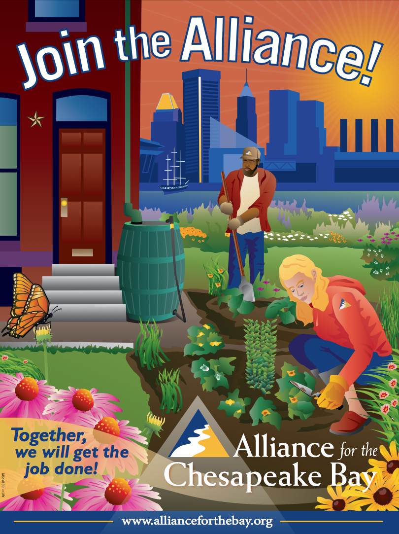 Alliance's Urban rain gardens, Art by joe barsin