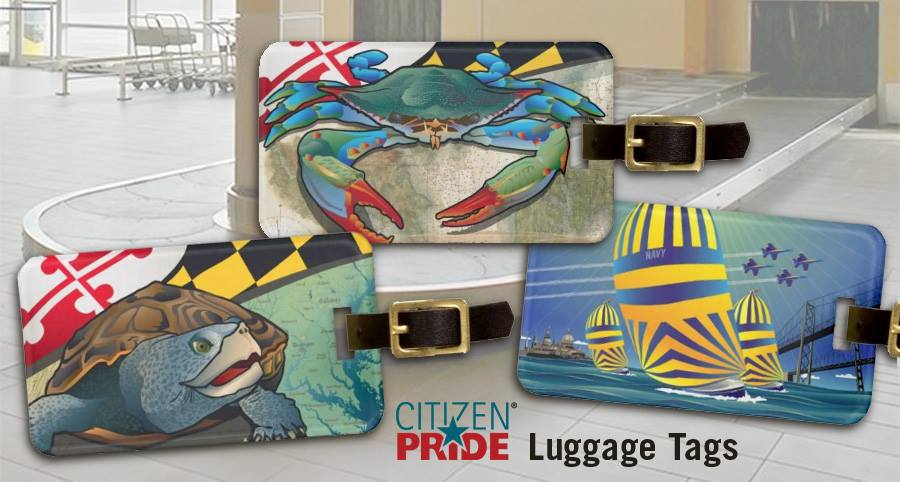 Luggage tag designs by Citizen Pride