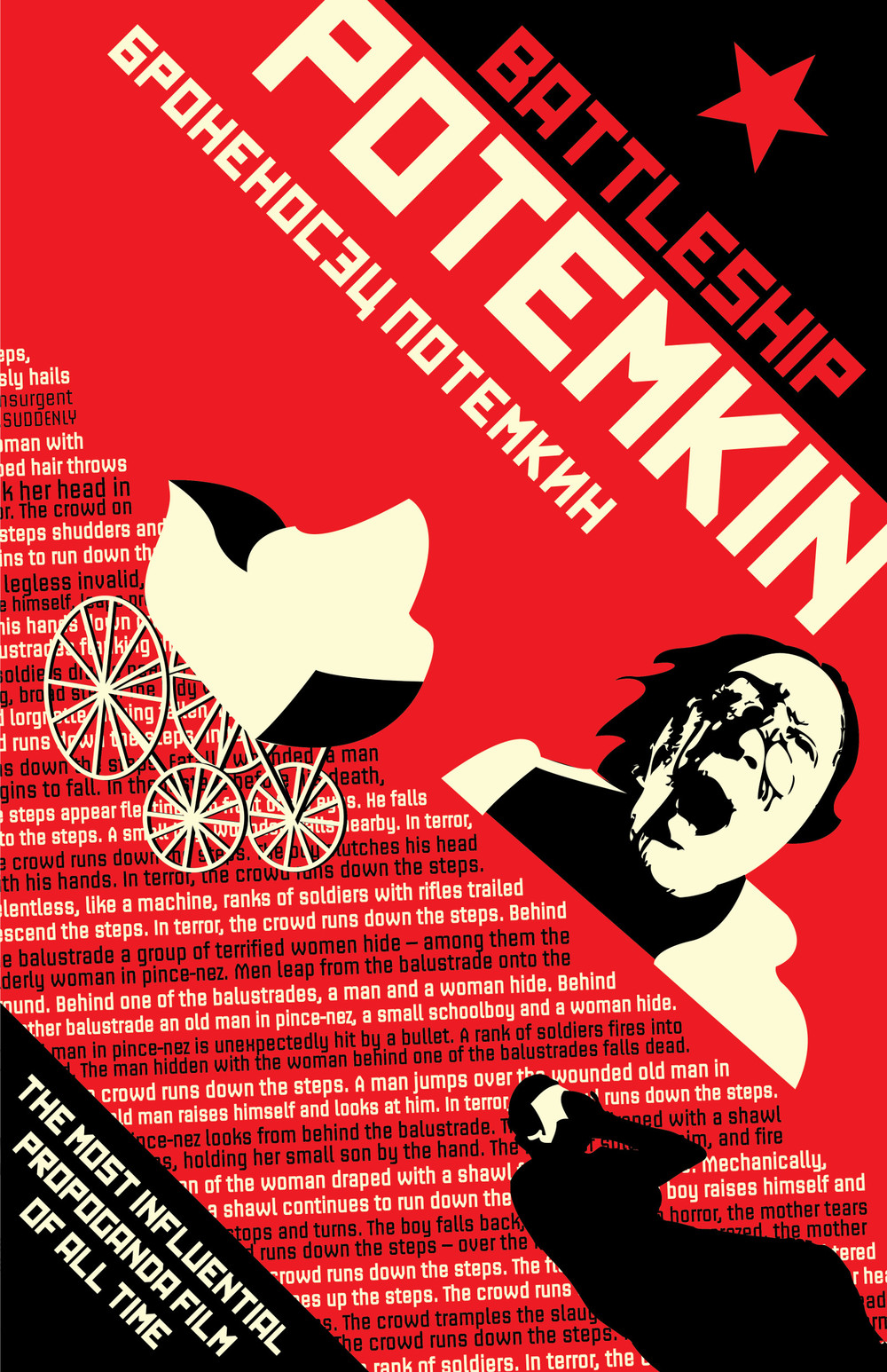 One of many examples of inspired poster design for the film, BATTLESHIP potemkin