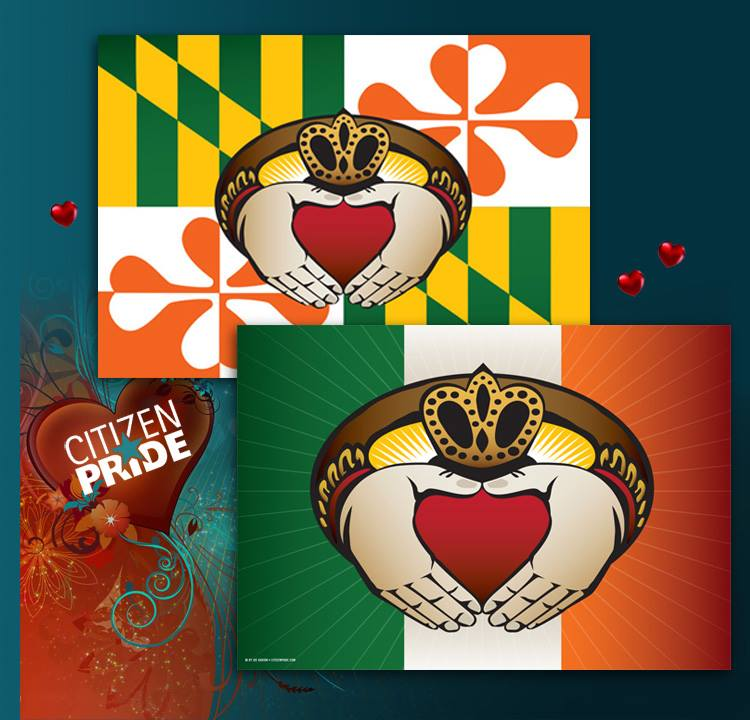 The Irish Claddagh Ring Flags
